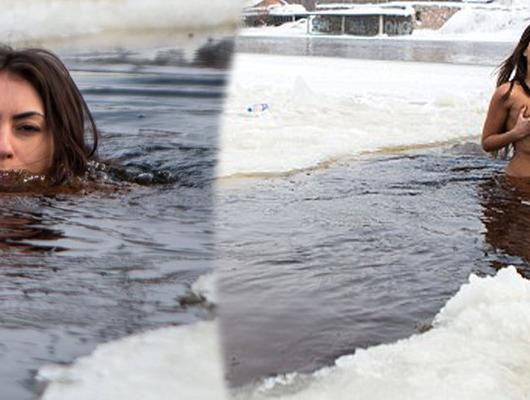 Kar kış demeden her hafta çırılçıplak suya atlıyor