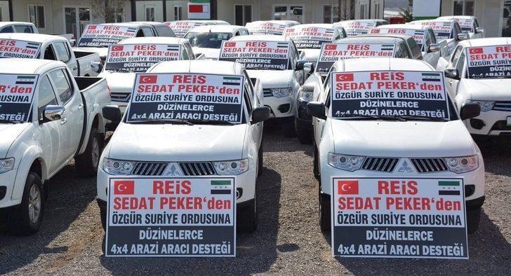 Sedat Peker, ÖSO'ya arazi araçları yolladı