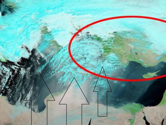 Meteoroloji bu gece için uyarmıştı! NASA uydusu görüntüledi, Türkiye'ye geliyor
