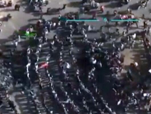 'Türk ordusu bizi de kurtarsın' diyen Tel Rıfat halkı havadan görüntülendi