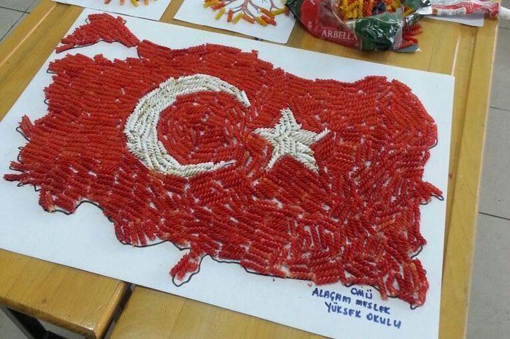 öğrenciler Makarnadan Türkiye Haritası Yaptı Son Dakika Haberler