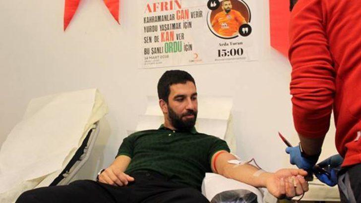 Arda Turan Afrin'deki askerler için kan verdi