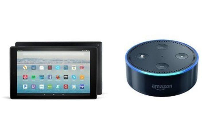 Amazon Fire HD 10 tablet alana Amazon Echo Dot hediye