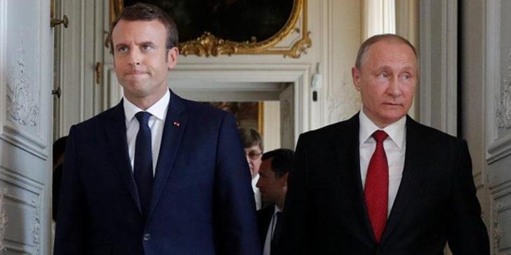 Rusya, Fransa'yı Suriye konusunda uyardı! Macron azarı yiyince kıvırdı