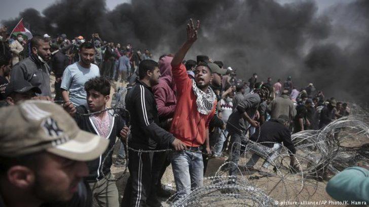 Gazze'de yüzlerce protestocu yaralandı