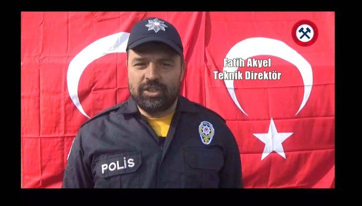 Zonguldak Kömürspor'dan polise destek klibi