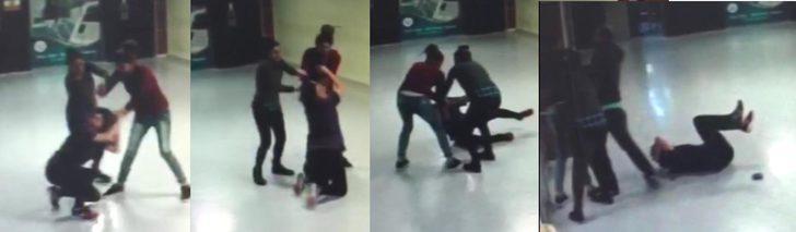 Kız kardeşlerin, kadın doktora saldırı anı kamerada