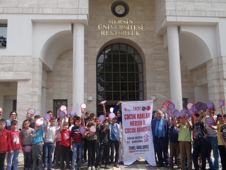 Risk altındaki çocuklar Mersin Üniversitesi'ni gezdi