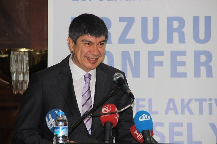 Menderes Türel'in başkanı olduğu Sağlıklı Kentler Birliği Meclisi Erzurum'da toplandı