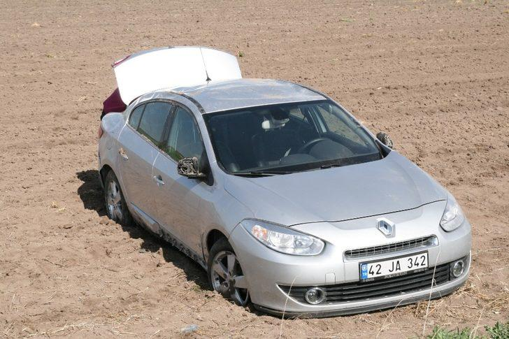 Kulu'da otomobil takla attı:7 yaralı