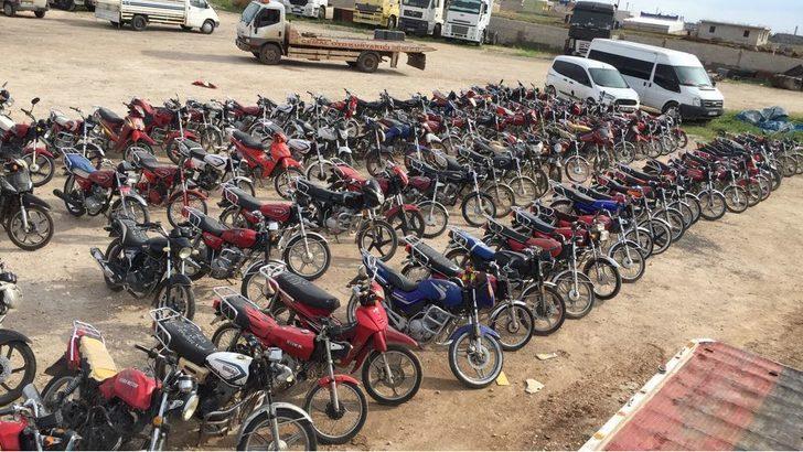 Şanlıurfa'da 62 çalıntı motosiklet ele geçirildi
