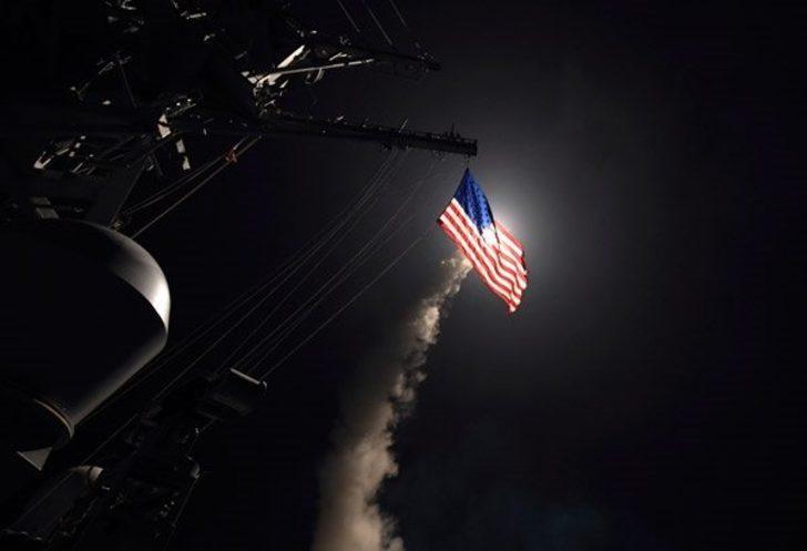 Trump 'hepsi yeni ve akıllı dedi' 105 füzeyle Suriye'yi vurdu