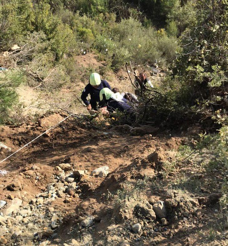 150 metrelik uçurama yuvarlanan kamyondan yaralı kurtuldu