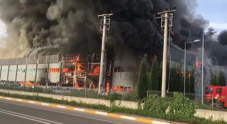 Sakarya'da mobilya fabrikası yangında küle döndü