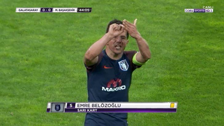 Emre Belözoğlu'ndan Galatasaray maçında şok hareket!