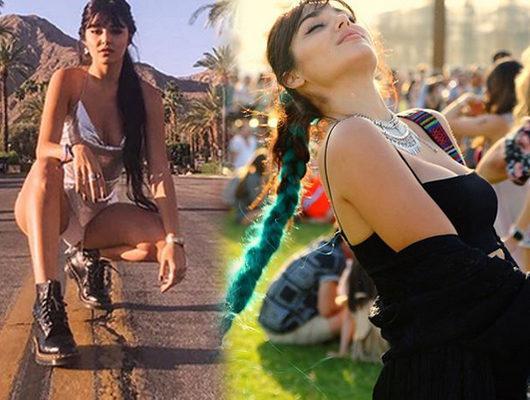 Hande Erçel'in Coachella Festivali pozları sosyal medyayı salladı!