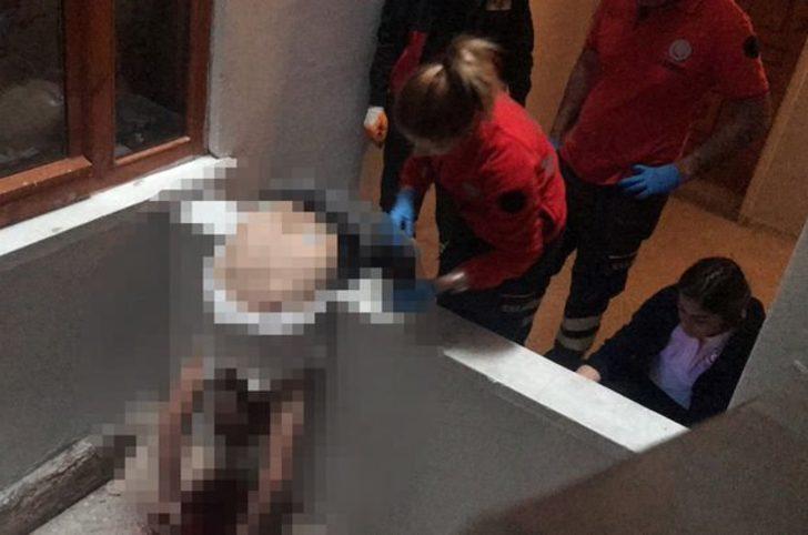 Aksaray'da arkadaşının oturduğu apartmanın boşluğunda ölü bulundu
