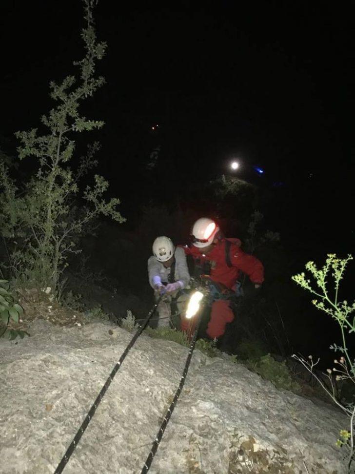 Dağda 5 saatlik kurtarma operasyonu