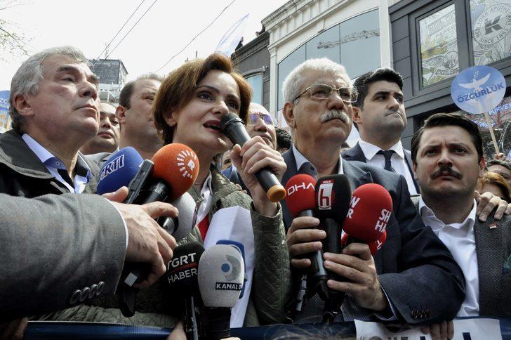 CHP'den İstiklal Caddesi'nde 'ohal' eylemi