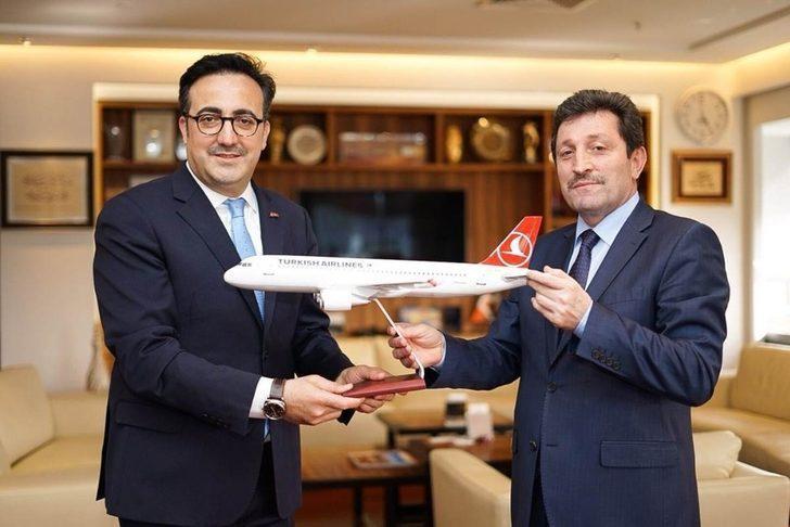 Vali Tavlı'dan Türk Hava Yollarına ziyaret