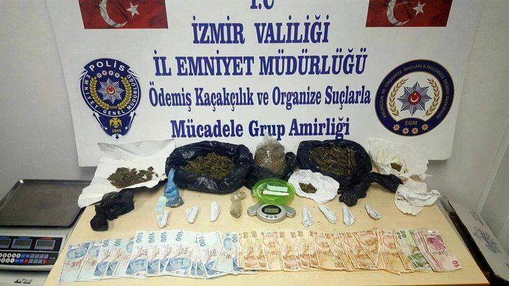Ödemiş'te 4 uyuşturucu şüphelisinden 1'i tutuklandı