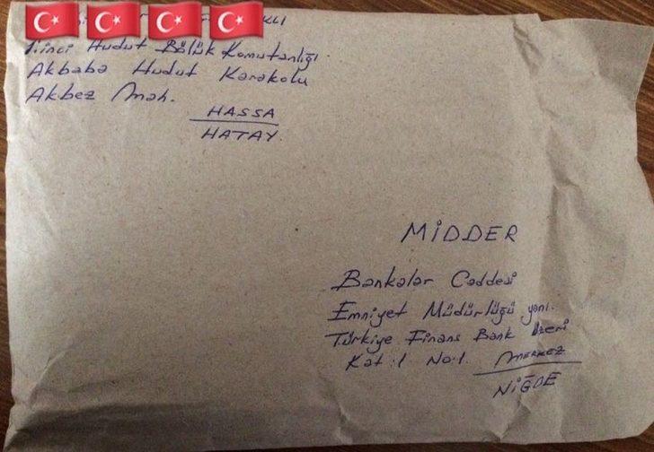 Mehmetçik'ten gençliğin mektubuna cevap