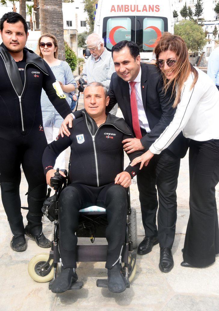 Bedensel engellinin 30 yıllık dalış hayali, gerçek oldu