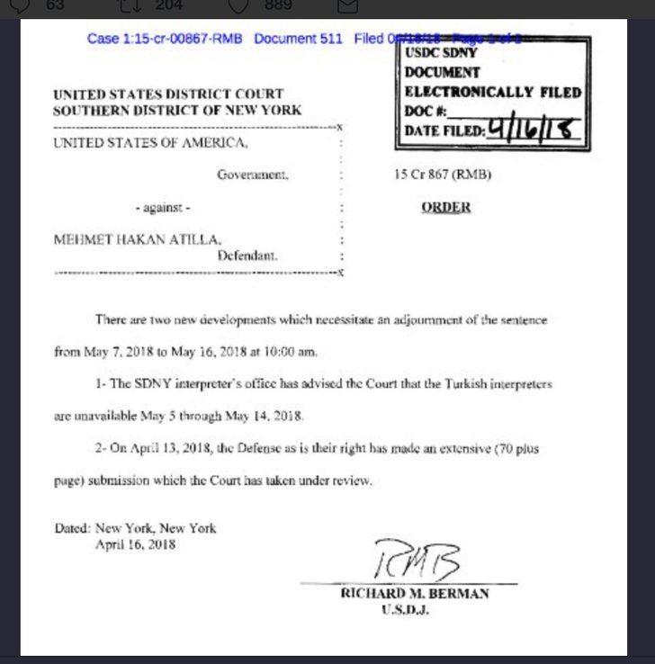 Atilla davası bir kez daha ertelendi