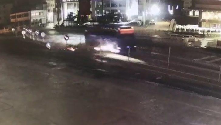 Emniyet Müdür Yardımcısı Akduman'ın kaza anı güvenlik kamerasında