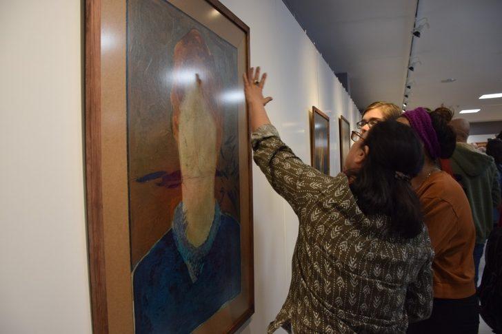 """""""Günler"""" resim sergisi GSF Sanat Galerisinde açıldı"""