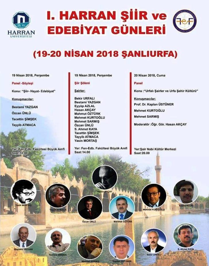 HRÜ'de şiir ve edebiyat günleri başlıyor