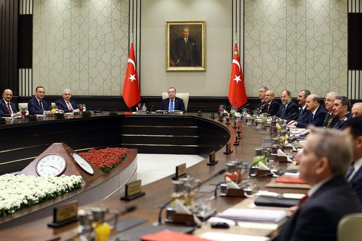Beştepe'de Milli Güvenlik Kurulu toplantısı