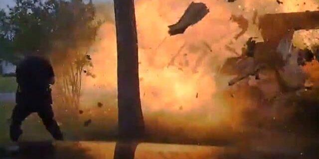 ABD'de evde gerçekleşen patlama böyle görüntülendi