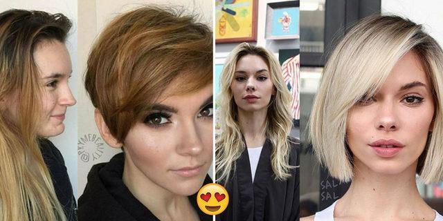 Gördükten sonra soluğu kuaförde alacağınız birbirinden güzel 18 kısa saç dönüşümü