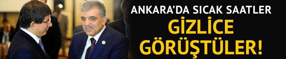 Ankara kulislerini hareketlendiren iddia: Gül ve Davutoğlu gizlice görüştü