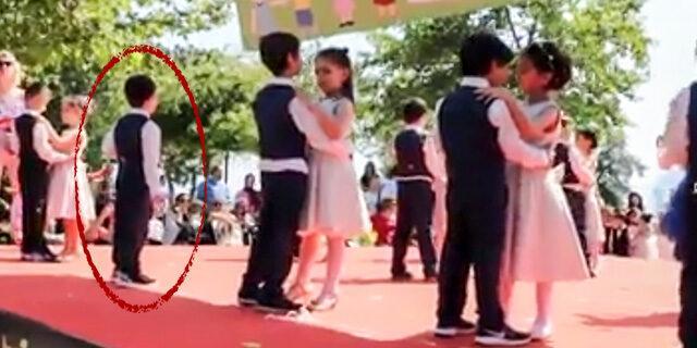 Eşi dans gösterisine gelmeyince tek başına dans etti