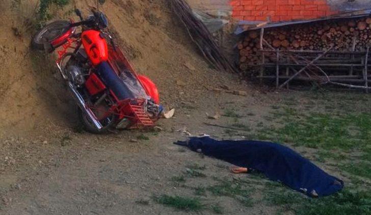 Dodurga'da sepetli motosiklet kaza yaptı; 1 ölü, 1 yaralı