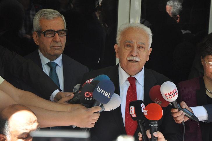 Vatan Partisi Genel Başkanı Perinçek Cumhurbaşkanı adaylık başvurusunu yaptı