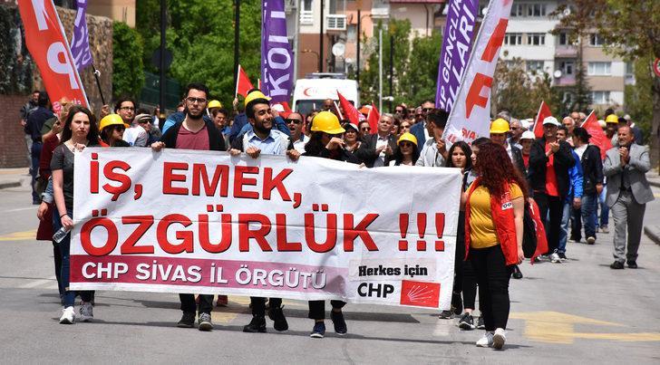 Sivas ve Tokat'ta 1 Mayıs coşkusu