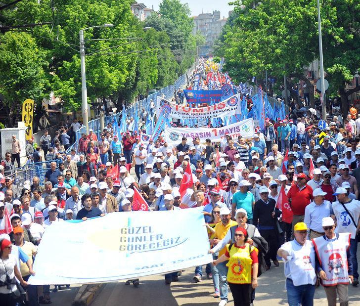 Bursa'da 1 Mayıs coşkusu