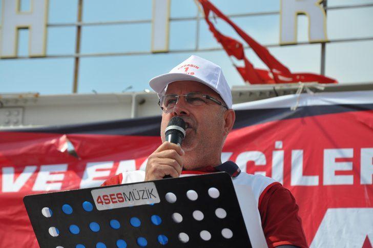 Aydın'da 36 derece sıcakta 1 Mayıs kutlandı