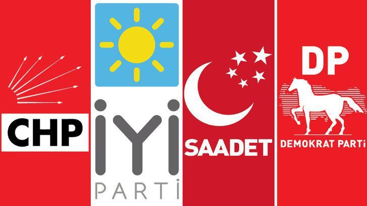 Erken seçim 2018: CHP, İYİ Parti, Demokat Parti ve Saadet Partisi seçim ittifakında anlaştı