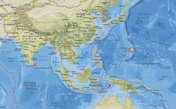 Pasifik Okyanusu'ndaki Mariana Adaları'nda 7.0 büyüklüğünde deprem