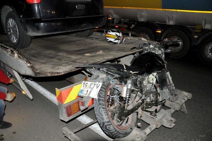 Bursa'da motosiklet, otomobille çarpıştı: 1 ölü, 1 yaralı
