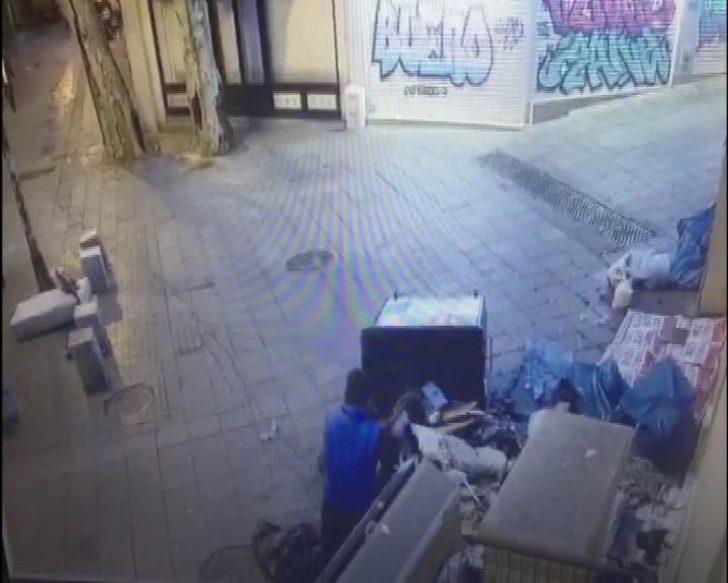Kadıköy'de kiliseye saldırı güvenlik kamerasında