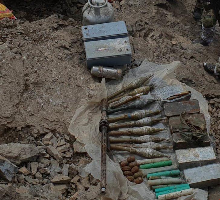 Hakkari kırsalında PKK cephaneliği bulundu