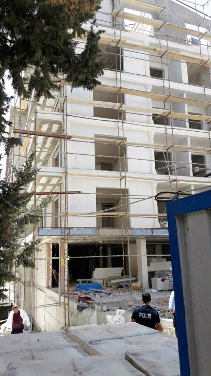 5 katlı inşaatın çatısından düşen işçi öldü