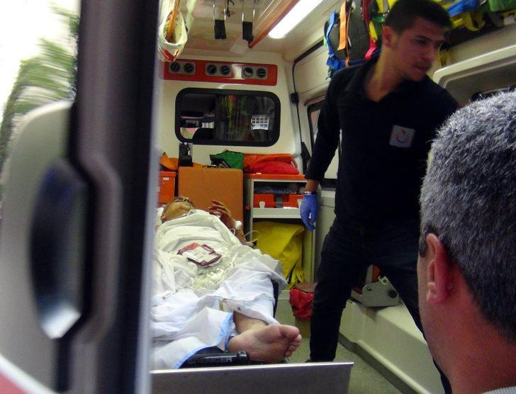 Haciz için gelen avukat katibini bacağından vurdu