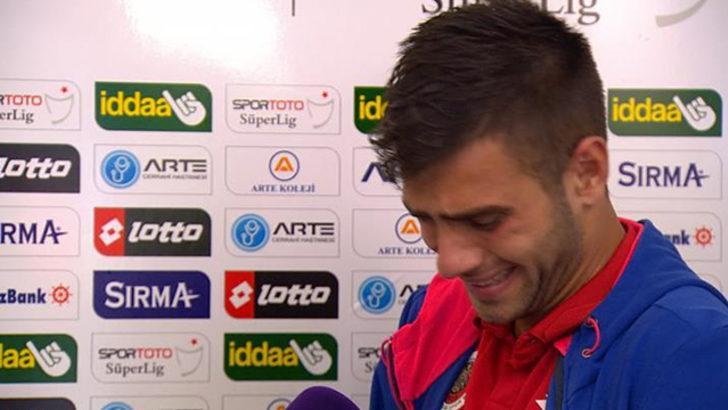 Gençlerbirliği'nin genç oyuncusu İlker Karakaş gözyaşlarına boğuldu!
