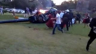 Düğünde korkunç kaza